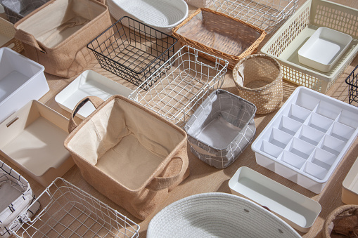 Stackable or collapsible basket or drawer