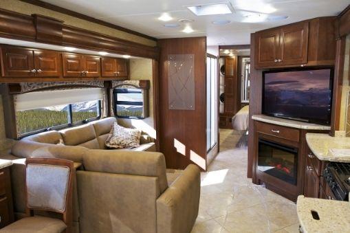 RV Living Room - TV